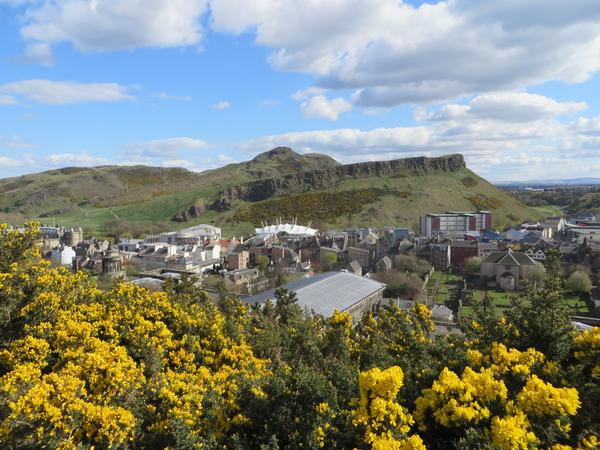 Arthur's Seat with Our Dynamic Earth in Foreground