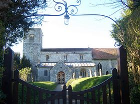 The Norman church(st michael & all angels) Figheldean © B. Reed