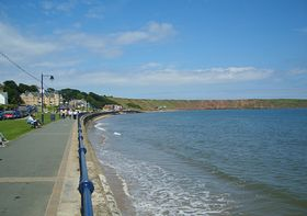 View along the sea front at Filey © Steven