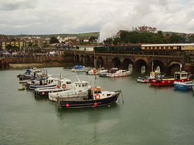 View of Folkeston Harbour. © Michael Hancock