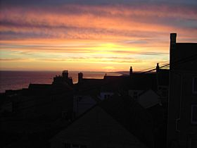 Sunset over Fortuneswell © Ross Harrison