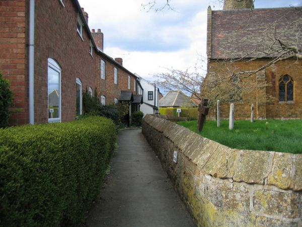 Lane by Gaydon Church