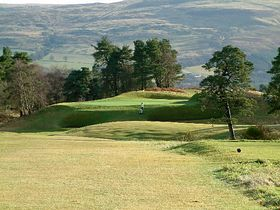 9th hole on Kings Course at Gleneagles.(c) Keith Duff via Wikimedia Commons