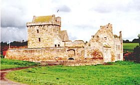 Balgonie Castle was visited by Rob Roy McGregor and is now the home to many weddings - and to the owner, The Laird of Balgonie © Ian Sloan