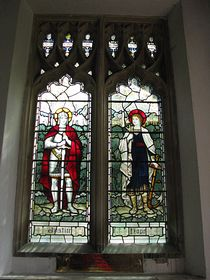 Stained Glass Window in the Church © Peggy Cannell