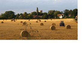 Harvest at Great Waldingfield © Barry Hills