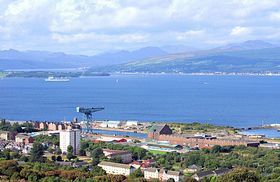Greenock and Firth of Clyde © John McLeish www.images-scotland.com