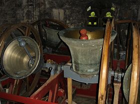 The bells at St. Aelhaiarn, Guilsfield © D M Turley