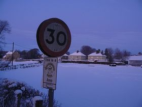 The village in the snow © Oliver Batten