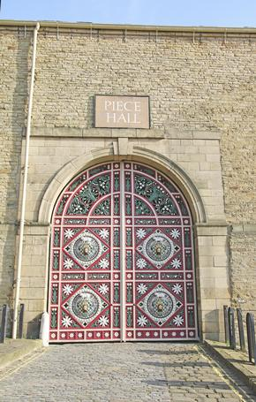 The Ornate Piece Hall Gates in Halifax - a 200 year old building which was a market place for cloth workers to sell their pieces