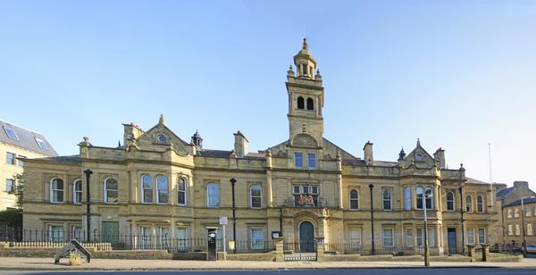 Halifax Magistrates Court - honey coloured building