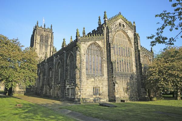 Rear view of Halifax Minster