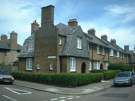 This is a picture of a house in the Tower Gardens Conservation & Article 4 area of Haringey N17.  This area is full of small cottage garden terrace houses which are really quanit.  This area is part of the London Open House © R Crowley