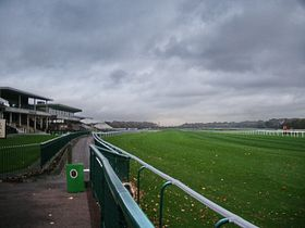 Haydock Park Racecourse the Final Straight Haydock Park Racecourse the Final Straight