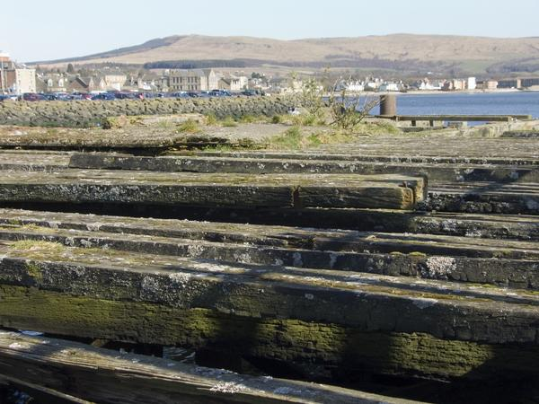 Abandoned Pier on the quayside, Helensburgh, Scotland