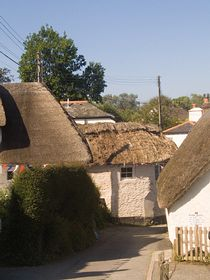 Thatched cottages  in the Village © PwBatchelor