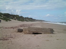 Old wartime defense's on Hemsby beach © Philip Cookson
