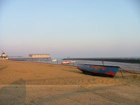 Herne Bay, harbour at low tide, early morning in April - © Andrew Nash