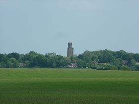 Horton Tower viewed across the meadows © Dave Quinnell