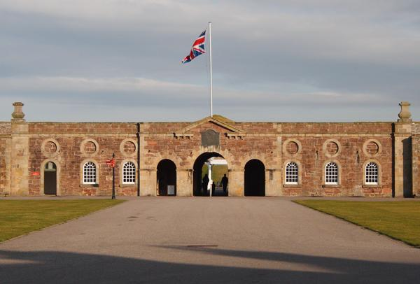 Fort George with Union Flag flying