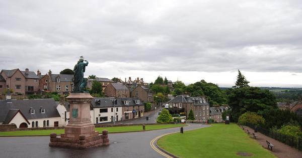 View of Inverness on a cloudy day from the Castle