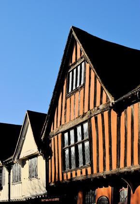17th century timber framed houses in Ipswich