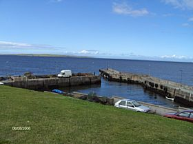 Harbour for John O' Groats ferry to Orkney © James E Craig