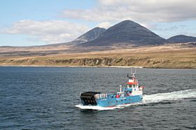 Car ferry crossing Sound of Islay with the Paps of Jura in Background © Hugh McDowall