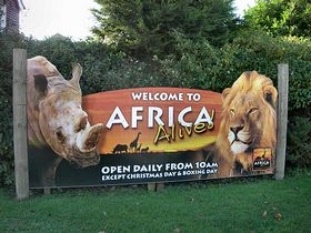 Wild Life Park entrance sign. © Peggy Cannell
