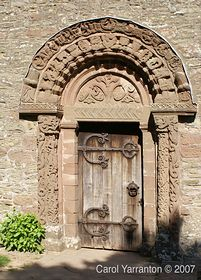 Church door St Mary and St Davids Kilpeck © Carol Yarranton