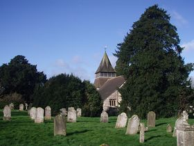 Graveyard and Church Kings Somborne © John Werrett