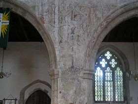Medievil wall paintings in the church © Mandy Clark