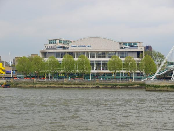 The Royal Festival Hall which was built as part of the Festival of Britain in 1951