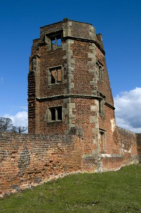 Ruins of Bradgate House - birthplace of Lady Jane Grey - in Charnwood Forest, Leicester