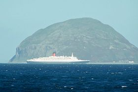 QE2 passing Ailsa Craig seen from Lendalfoot © Hugh G. Frew