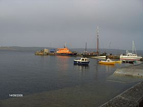 Lerwick Harbour and Lifeboat © James E Craig