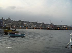 Lerwick Harbour and Town © James E Craig