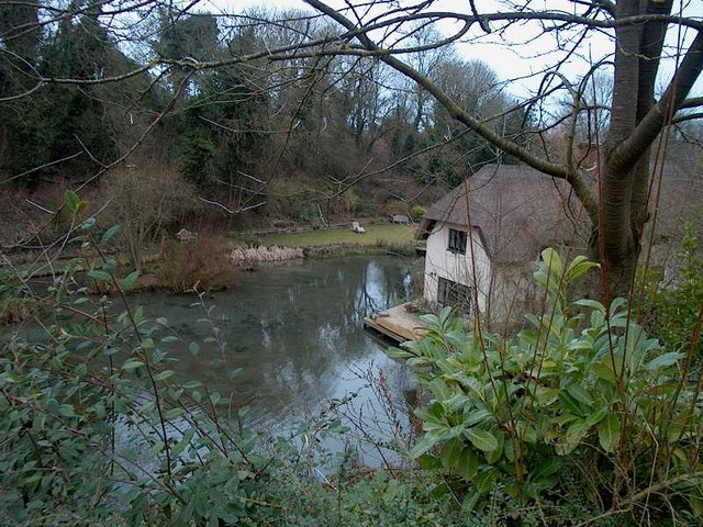 Cottage in watercress beds Letcombe