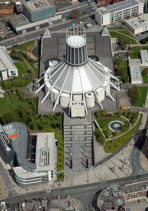 aerial view of Liverpool Roman Catholic Cathedral