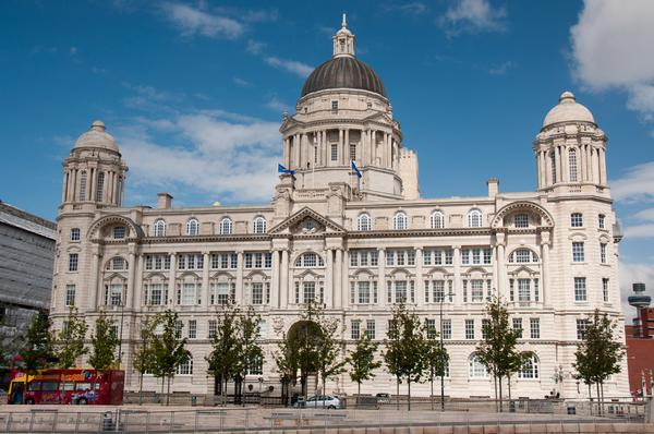 "Port of Liverpool Building. One of the famous ""Three Graces""of Liverpool."