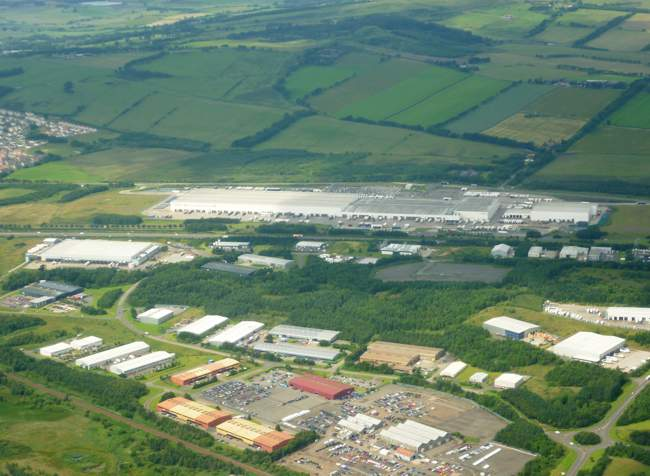 Tesco Distribution Centre in Livingston