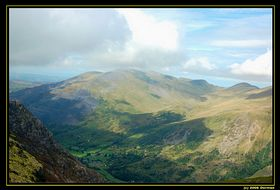 Llanberis Pass view from Mount Snowdon © Andy Dorman