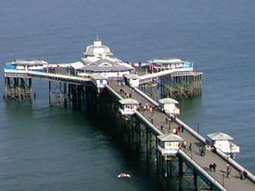 Llandudno pier looing down from great orme © Steven Cave