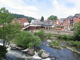 Station and River at LLangollen © Marion Mitchell