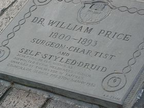 Plaque about Dr. Price © Haydn Morriss