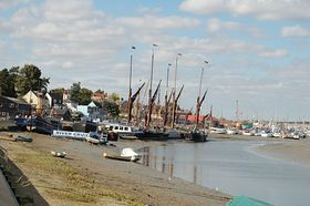 The tide is out at Maldon.