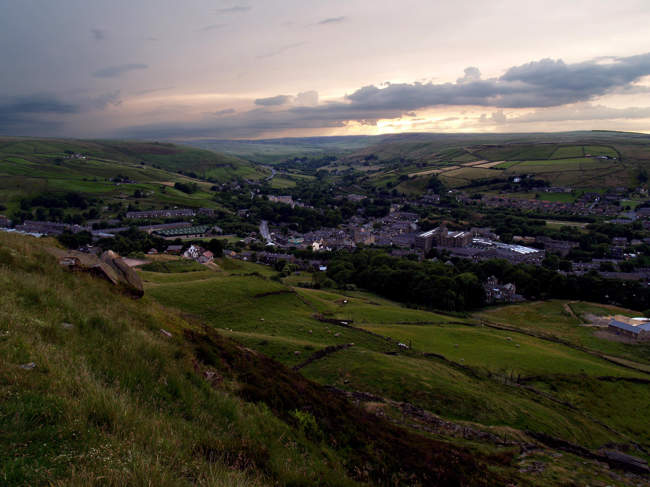 Marsden looking West from Binn Moor. © Howard Selina. Howard@Hens-Teeth.com
