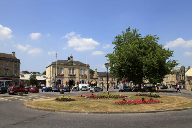 Melksham Town Hall Square