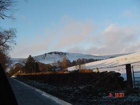 Approach to Monzie from Gilmerton in Winter © Nigel Dunkley