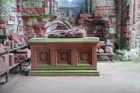 Lady Devorgilla's tomb, Sweetheart Abbey, New Abbey, Dumfries and Galloway © David Palmquist